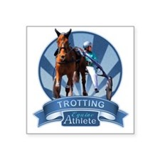 Blue Ribbon Trotting Square Sticker 3
