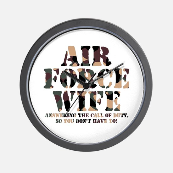 AF Wife Answering Call Wall Clock