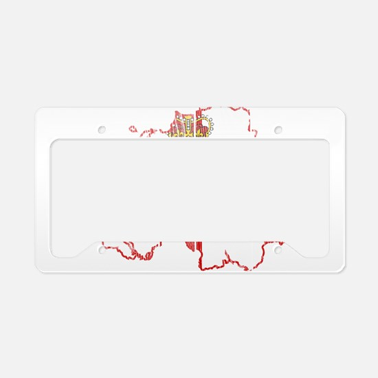 Northern Ireland Flag And Map License Plate Holder