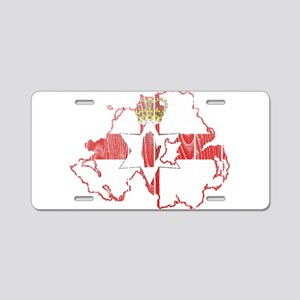 Northern Ireland Flag And Map Aluminum License Pla