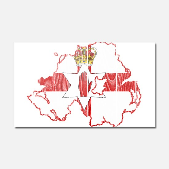 Northern Ireland Flag And Map Car Magnet 20 x 12