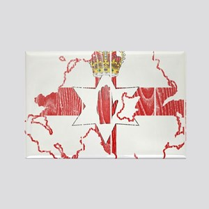 Northern Ireland Flag And Map Rectangle Magnet