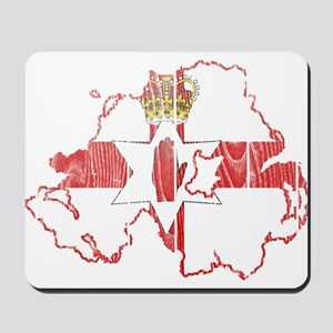 Northern Ireland Flag And Map Mousepad