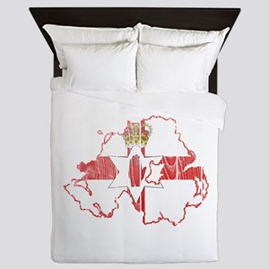 Northern Ireland Flag And Map Queen Duvet