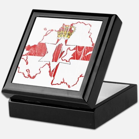 Northern Ireland Flag And Map Keepsake Box