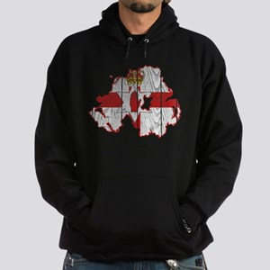 Northern Ireland Flag And Map Hoodie (dark)