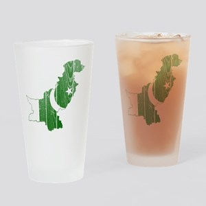 Pakistan Flag And Map Drinking Glass