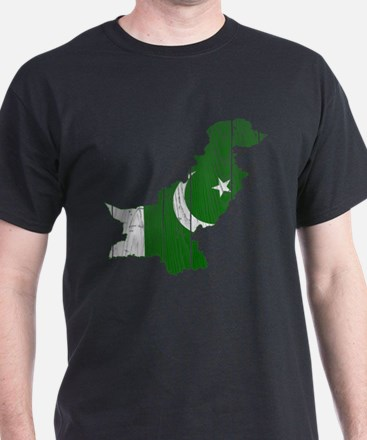 Pakistan Flag And Map T-Shirt