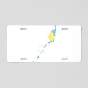Palau Flag And Map Aluminum License Plate