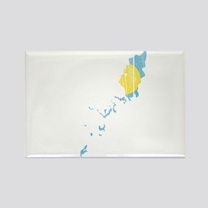 Palau Flag And Map Rectangle Magnet