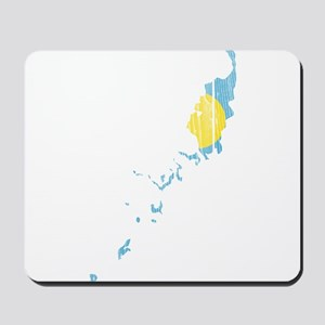 Palau Flag And Map Mousepad