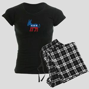 Democratic Donkey Democrat Women's Dark Pajamas