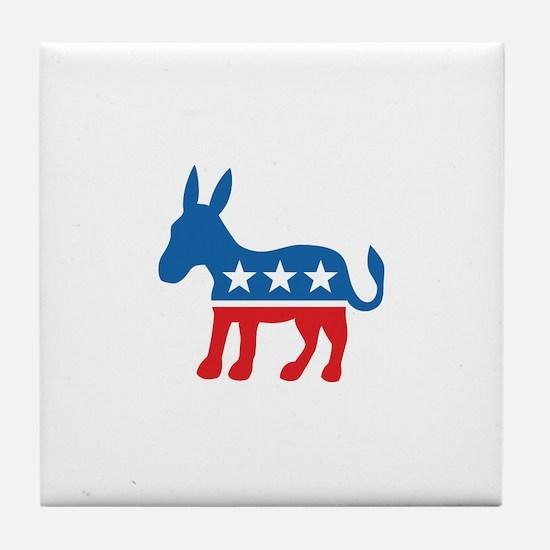 Democratic Donkey Democrat Tile Coaster