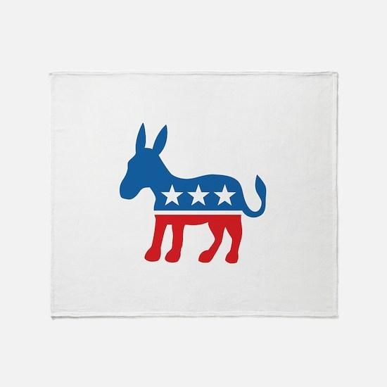 Democratic Donkey Democrat Throw Blanket
