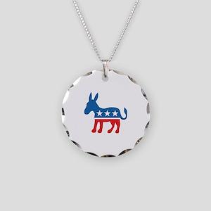 Democratic Donkey Democrat Necklace Circle Charm