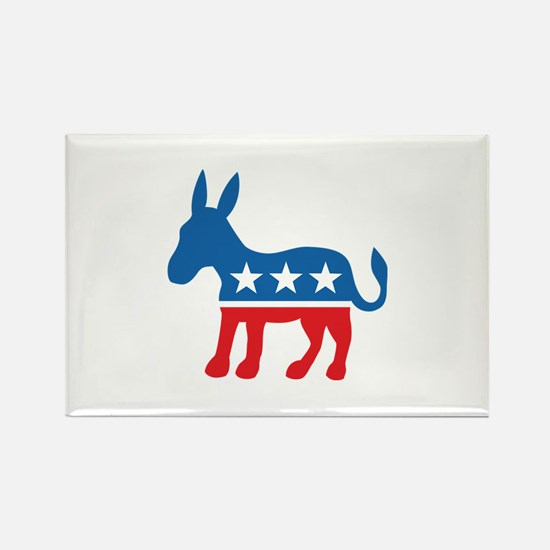 Democratic Donkey Democrat Rectangle Magnet