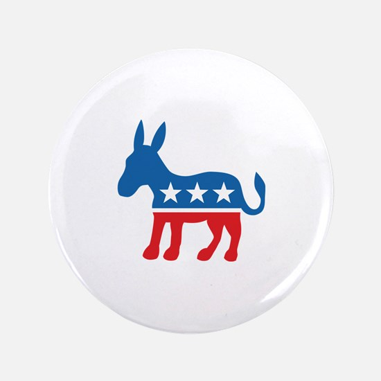 "Democratic Donkey Democrat 3.5"" Button"