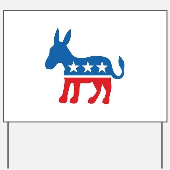 Democratic Donkey Democrat Yard Sign