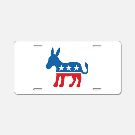 Democratic Donkey Democrat Aluminum License Plate