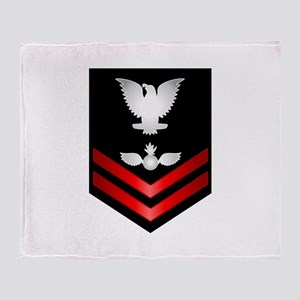 Navy PO2 Aviation Ordnanceman Throw Blanket