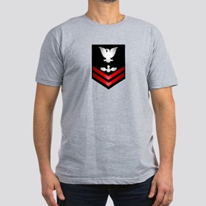 Navy PO2 Aviation Ordnanceman Men's Fitted T-Shirt