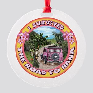I Survived The Road To Hana Round Ornament