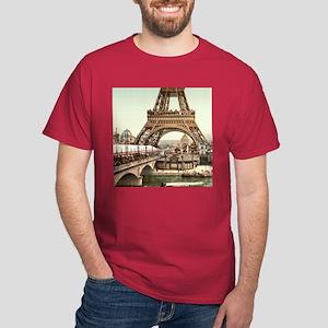 Vintage Eiffel Tower Dark T-Shirt