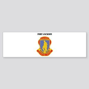 Fort Jackson with Text Sticker (Bumper)