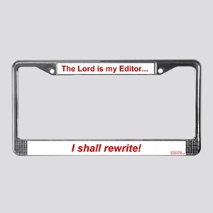 The Lord is My Editor - License Plate Frame - Red