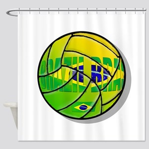 Brazil Brasil Volleyball Shower Curtain