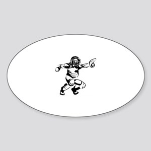 Baseball Sticker (Oval)