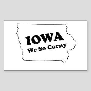Iowa, We so corny Rectangle Sticker