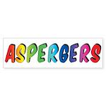 Aspergers Bumper Sticker