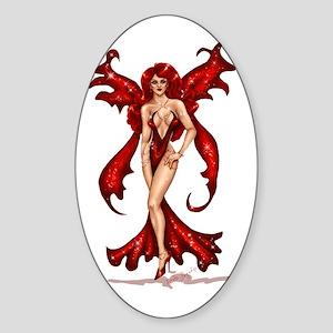 """""""Ruby Pixie"""" Oval Sticker"""