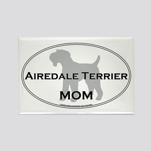 Airedale Terrier MOM Rectangle Magnet