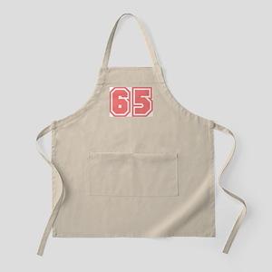 Varsity Uniform Number 65 (Pink) BBQ Apron