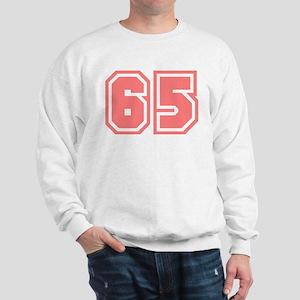 Varsity Uniform Number 65 (Pink) Sweatshirt