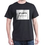 Atlanta Peach of the South Black T-Shirt
