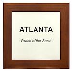 Atlanta Peach of the South Framed Tile
