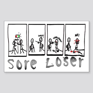 Sore Loser Rectangle Sticker