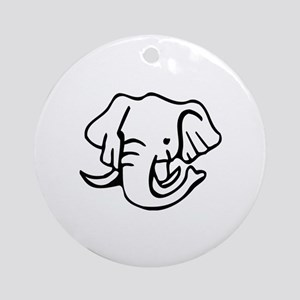 Elephant Ornament (Round)