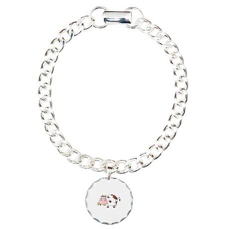 Cow Charm Bracelet, One Charm