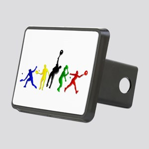 Tennis Players Rectangular Hitch Cover