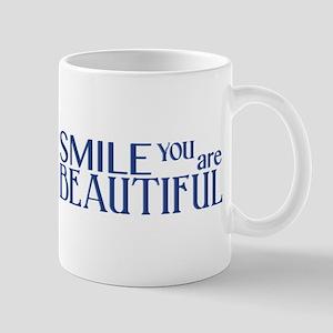 Smile you are Beautiful, Navy Mug
