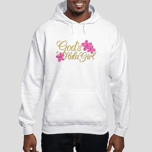 God's Hula Girl Hooded Sweatshirt