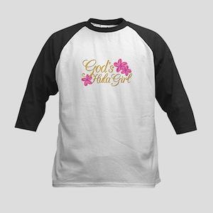God's Hula Girl Kids Baseball Jersey