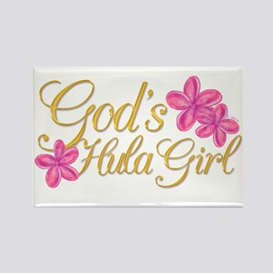God's Hula Girl Rectangle Magnet