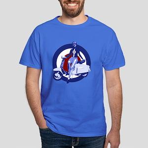 Retro Scooter girl Art Dark T-Shirt