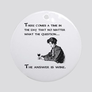 The answer is wine Ornament (Round)