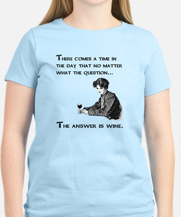 The answer is wine Women's Light T-Shirt